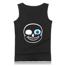 Skull Brother Undertale Muscle Tank Tops for Men Sleeveless Shirts and Undertale Sans Plus Size Summer Vests Men(China)