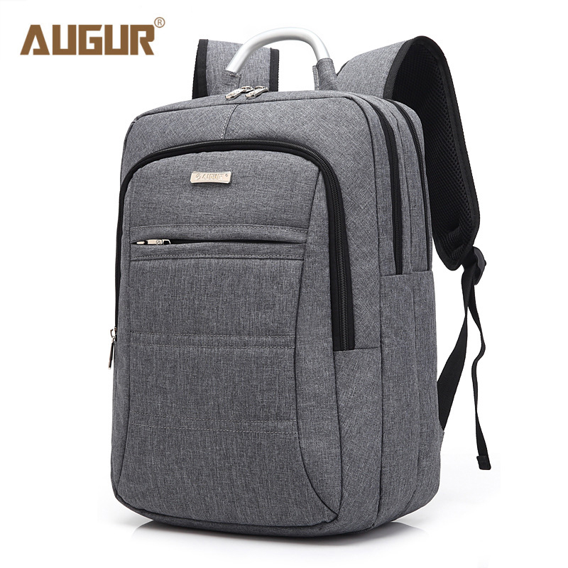 AUGUR New Preppy Style School Backpack High Quality Nylon School Bags for Teenagers Solid Zipper Unisex Travel Laptop Backpacks