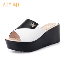 AIYUQI Womens slippers 2019 new women sandals platform big size shoes fashion designer for summer