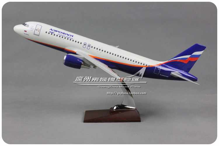 47cm Resin Russia Airlines Airbus Model A320 Aircrafts Aeroflot Airways Airplane Model International Aviation Decorative Model