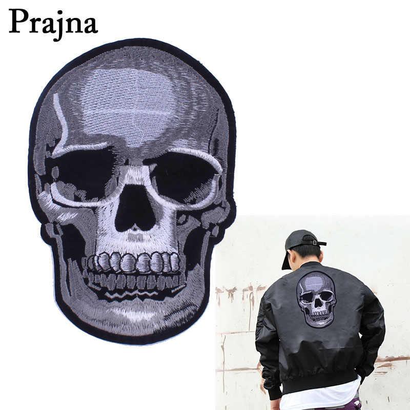 Prajna винтажная большая аппликация в виде черепа железные на патчи одежда с