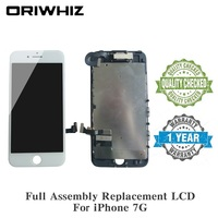 10PCS ORIWHIZ Replacement LCD Touch For iPhone 7 Screen Digitizer Display + Front Camera +Ear Speaker Not For iPhone 5S LCD