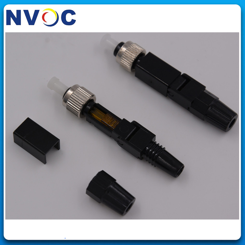 10pcs FTTH FC Covered Wire Fiber Optic Connector Fast FC Quick Assembly Connecto
