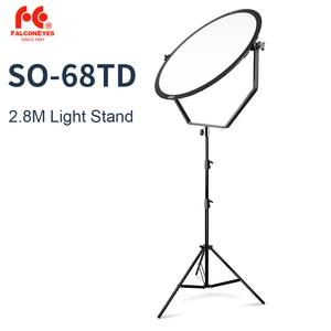 Image 1 - الصقر عيون SO 68TD 68W LED لوحة عكس الضوء عالية CRI95 3000 5600K الإضاءة فيديو فيلم المستمر ضوء مع 2.8M ضوء حامل