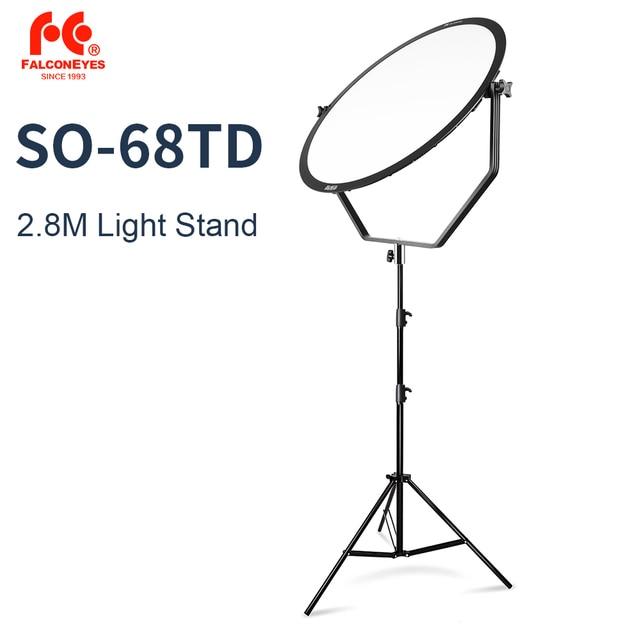 الصقر عيون SO 68TD 68W LED لوحة عكس الضوء عالية CRI95 3000 5600K الإضاءة فيديو فيلم المستمر ضوء مع 2.8M ضوء حامل