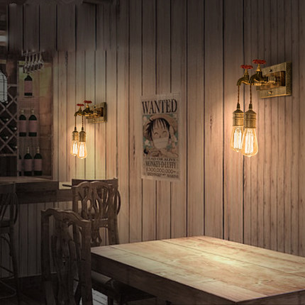 Loft Industrial Wall Lights Vintage Wall Lamp American Style Edison Lamps Creative Faucet Wall Light Cafe Bar Art Deco Lighting