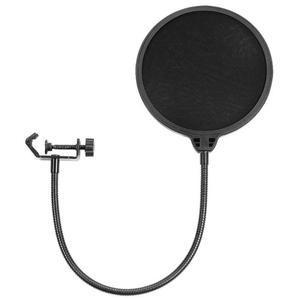 Image 1 - Flexibele Mic Wind Screen Pop Filter Draagbare Studio Opname Spreken Zingen Condensator Microfoon Filter Mount Masker
