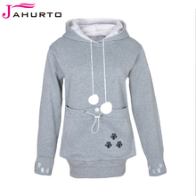 Jahurto Cartoon Hooded Hoodies Lover Cats Kangaroo Dog Hoodie Cool Long Sleeve Sweatshirt Front Pocket Casual Animal Ear Hoodie