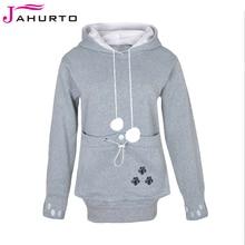 Jahurto Cartoon Hooded font b Hoodies b font Lover Cats Kangaroo Dog Hoodie Cool Long Sleeve