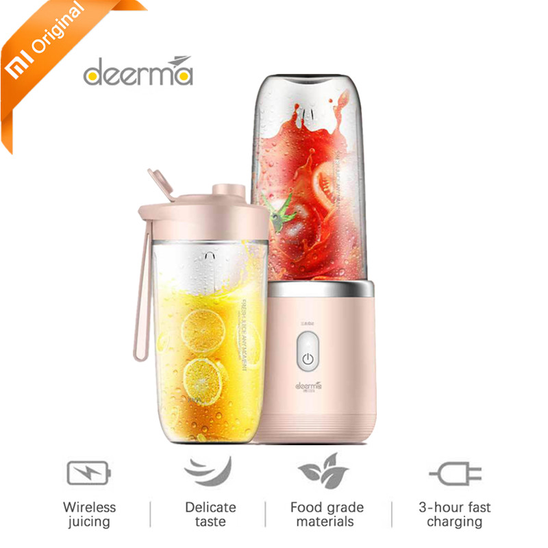 Original 1 Deerma Portable Electric Juicer 400ML Automatic Wireless Multi-Functional Mini Portable USB Charging Juicer