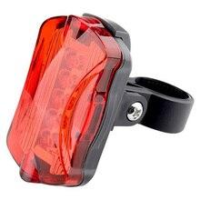 Multifunction 5 LED Lamp Bike Bicycle Front Head Light Rear Waterproof Safety Flashlight Kits EDF88