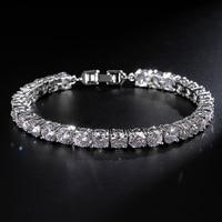 Classic Design From Rome Charm High Quality Round 0 5 Carat AAA CZ Diamond Tennis Bracelet