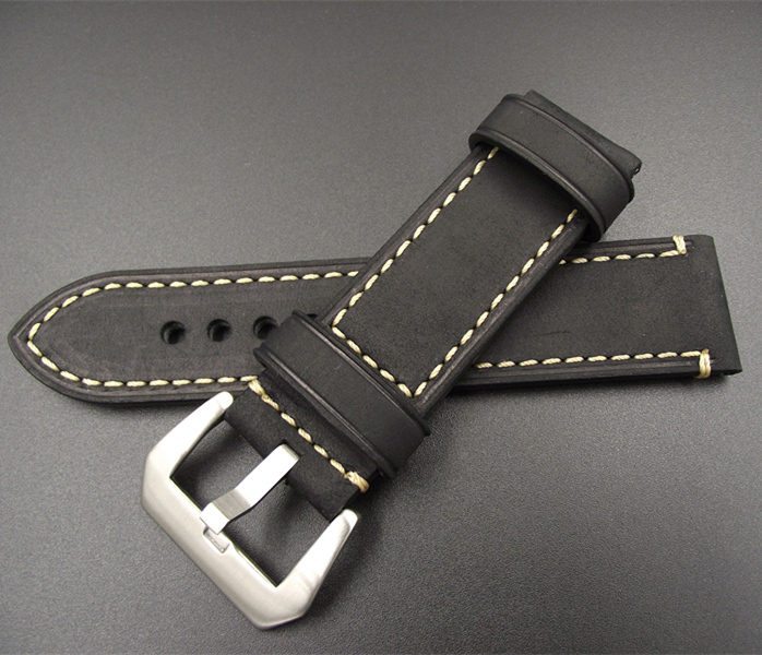 Wholesale 10PCS lot 20MM 22MM 24MM genuine leather Crazy horse leather Watch band watch strap man