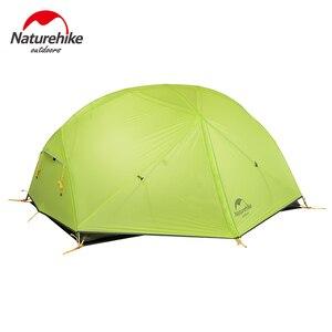 Image 4 - NatureHike Mongar קמפינג אוהל 2 אנשים Ultralight 20D ניילון אלומיניום סגסוגת מוט שכבה כפולה אוהל טיולים חיצוני NH17T007 M
