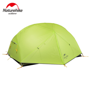 Image 4 - NatureHike Mongar Camping Tent 2 Persons Ultralight 20D Nylon Aluminum Alloy Pole Double Layer Outdoor Hiking Tent NH17T007 M