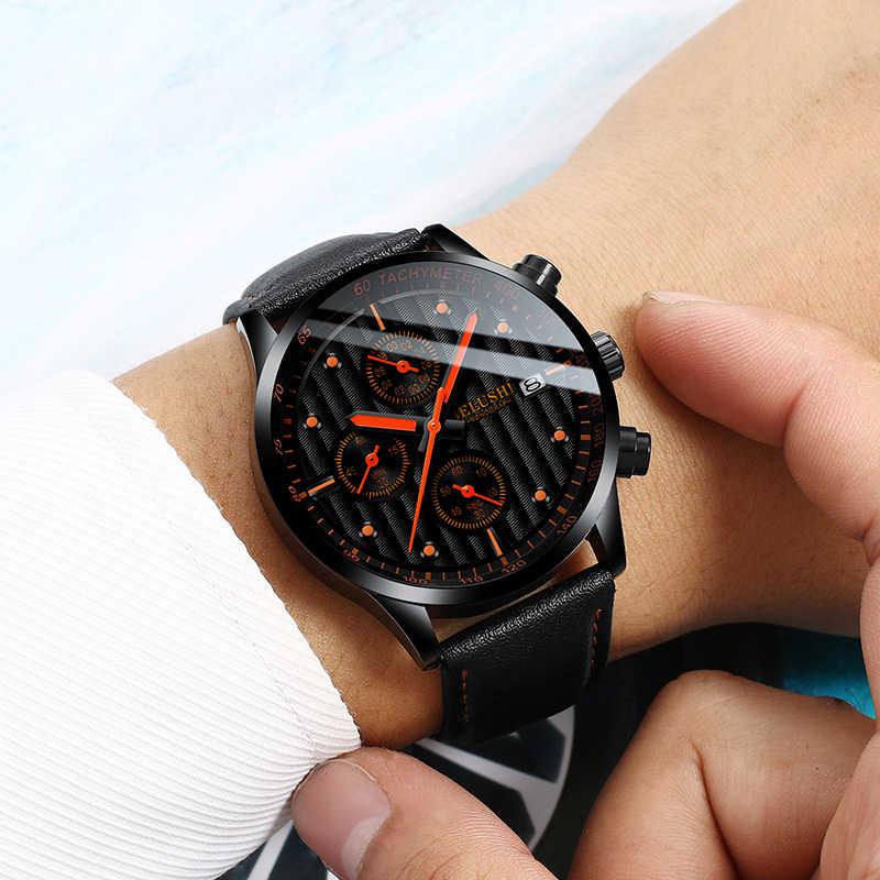 Hommes montres haut de gamme marque hommes montre-bracelet horloge mode Quartz montre hommes sport étanche montres mâle chronographe horloge