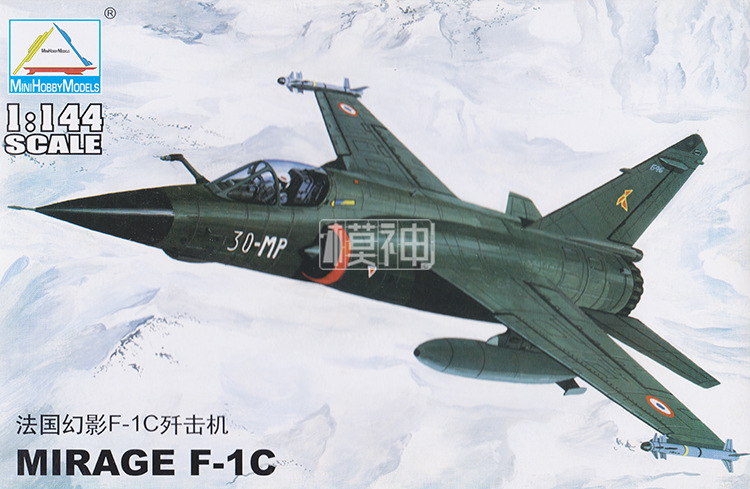 1: 144 France Mirage F-1C Fighter Modern Military Aircraft Assembled Model 80409