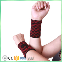 2pcs Nano Tourmaline Elastic Magnetic Protective Sports Wrist Support wrist belt