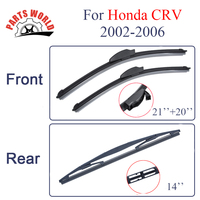 KIT Silicone Rubber Windscreen Front And Rear Wiper Blades For Honda CRV 2002 2006 Windshield Wiper