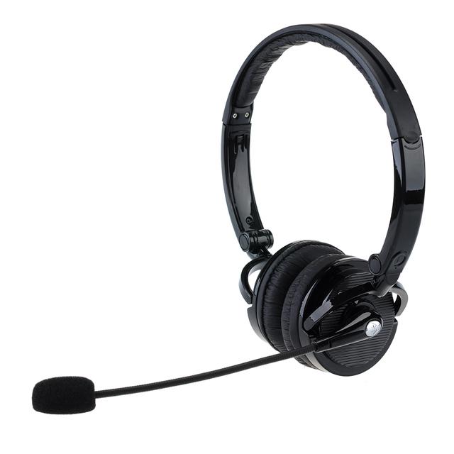 2 em 1 Over-the-Cabeça Da Lança MIC Microfone Estéreo Dobrável fone de Ouvido Bluetooth Viva-Voz Sem Fio Fone De Ouvido Cancelamento de ruído