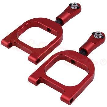 Brazos de suspensión superior de aluminio de Metal 112004 para FS Racing 1/5 gasolina Dersert camión gasolina Buggy Baja piezas de mejora