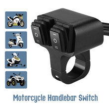 12V 16A Motorcycle Switches CNC Aluminum Alloy Handlebar 2 Way Headlight Switch Waterproof Motorbike Accessories