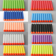 100 pcs Fluorescence Dart Refills Universal Standard Round Head Hollow Foam Bullets for Nerf Toy Gun 10 Colour