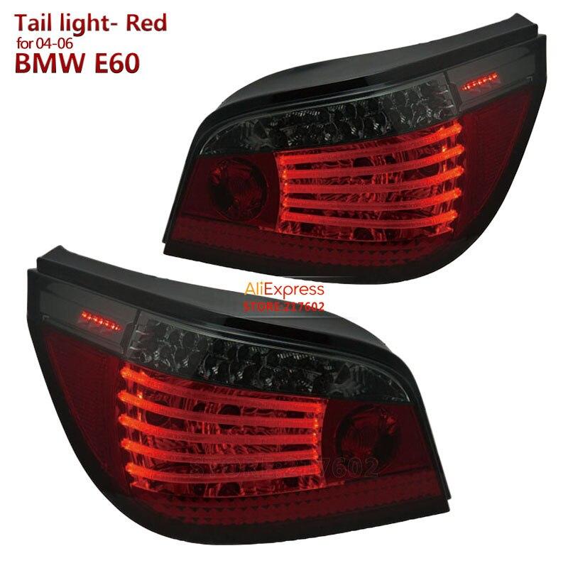 Marque SONAR de qualité supérieure pour BMW 04-06 série 5 E60 523i 525i 530i LED feux arrière couleur rouge feux arrière