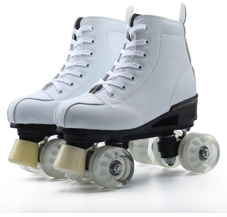Skates Adult Double-row Skates Children's Four-wheel Skates Shoes For Men And Women Outdoor Beginner Shoes