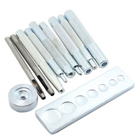 11 Pcs Punch Tool Leather Hole Punch Buttons Set Pressing Studs Rivets And Grommets Snap Rivet