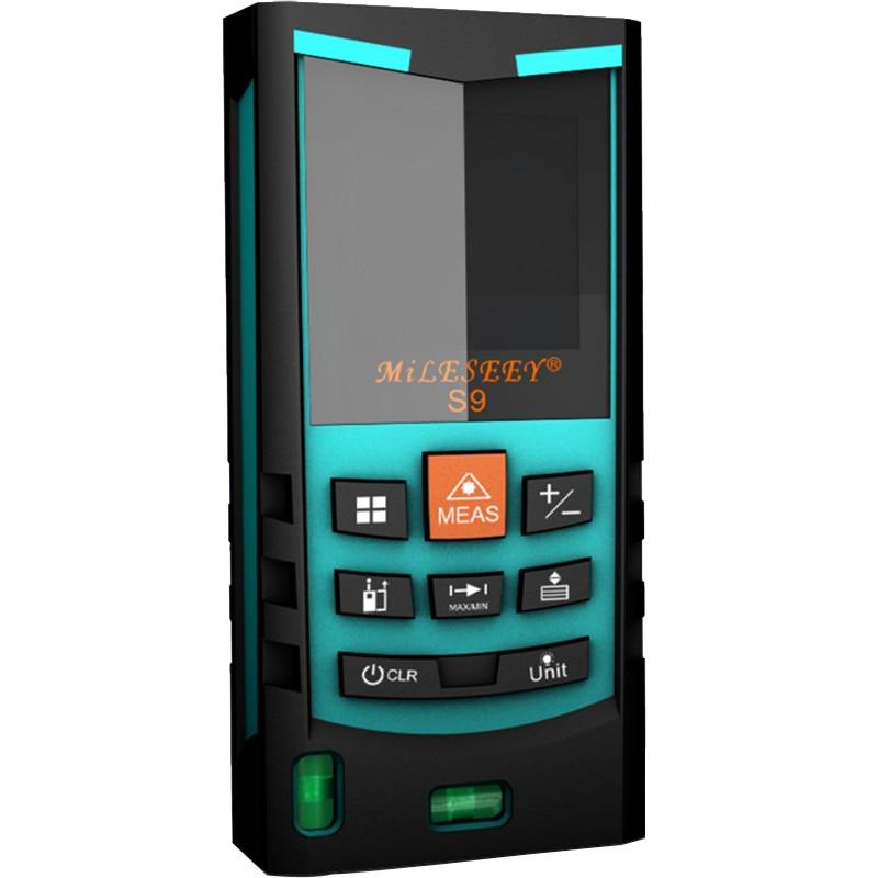 ФОТО Mileseey S9 Rangefinder Laser Distance Meter Digital Range Finder Volume area Measurement Tape Measure 40M 60M
