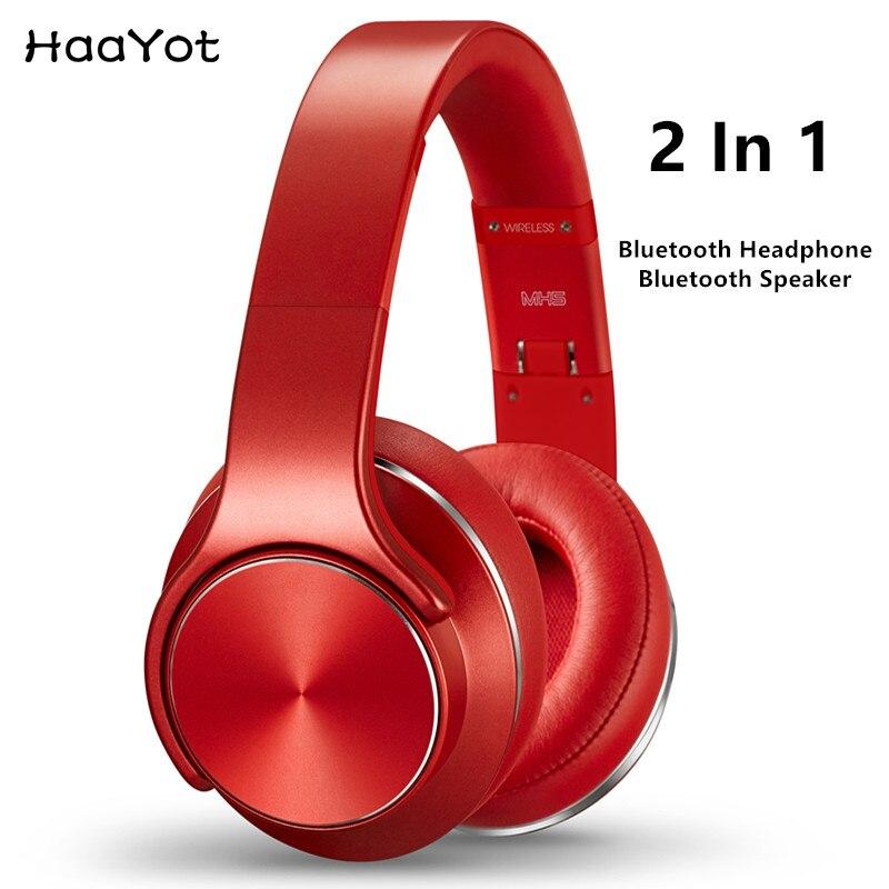 Sodo Mh5 Bluetooth Headphone Twist Out Speaker Bluetooth 4: HAAYOT SODO Bluetooth On Ear Headphone Twist Out Speaker