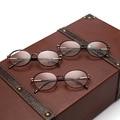 Новая Мода Металлические Овальные Женщины Оптические Очки Кадр Ретро Равнине Зеркало Полный Кадр Очки Очки