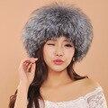 2016 Меховая Шапка Для Женщин Новый Стиль Дамы Зимой Меха Лисы Роскошные Шляпы Для Девочек