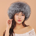 2016 Fur Cap For Women New Style Lady's Winter Fox Fur Luxury Hats For Girls