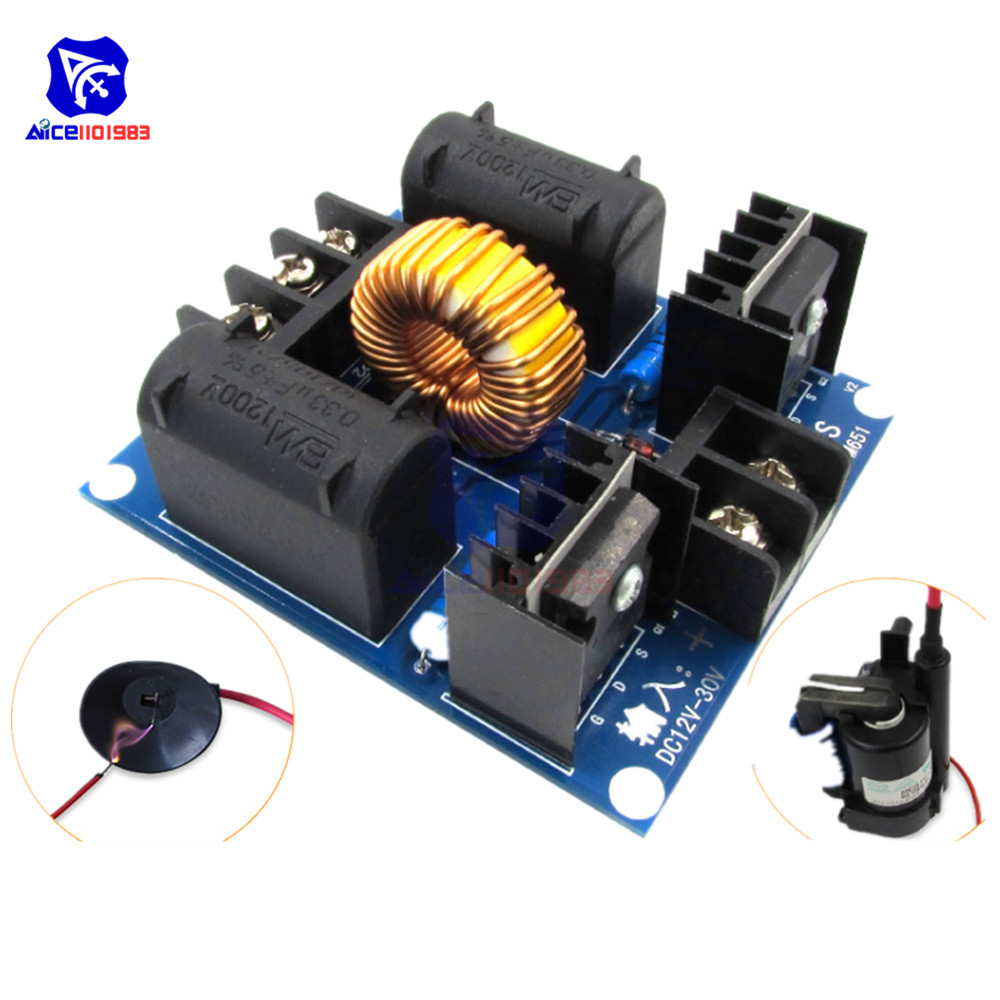 DC Coi ZVS Teslal Marx Generator 12-30V High Voltage Power Supply Module Case