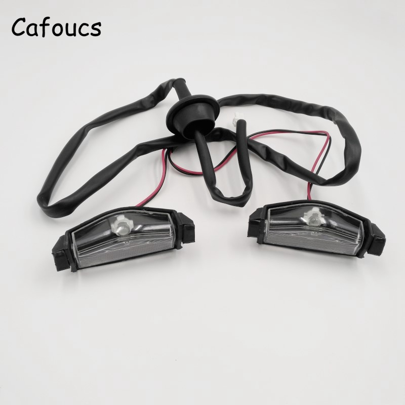 Cafoucs Car Rear License Plate Lights with Bulbs For <font><b>Mazda</b></font> <font><b>3</b></font> 2003 <font><b>2004</b></font> 2005 2006 2007 2008 BS1E-51-270 image