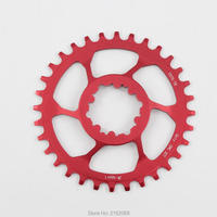 Newest Red Mountain Bike CNC Aluminum Alloy 7075 T6 Bicycle Chainwheel Use For BCD 40mm Crank