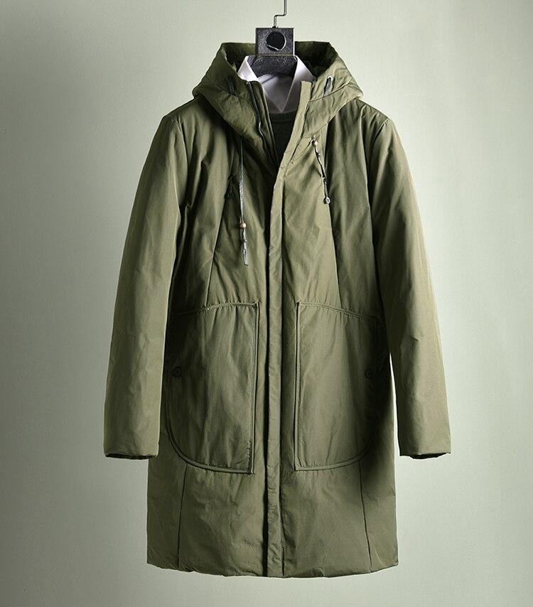 2019 new fashion man duck   down   padded   coat   hooded warm parkas jacket for male army green plus oversize xxxxxl 3xl 4xl 5xl