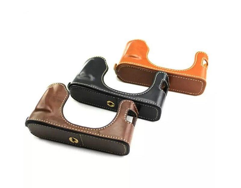 Lightweight Half Body Case Camera Protective Cover with wrist strap for Fujifilm Fuji X100 X100S X100T Brown Black Camera Bag