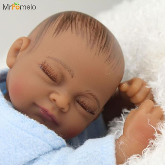 Mrpomelo 10 Quot Black Reborn Boy African American Baby Doll