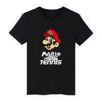 SUPER MARIO Short Sleeve Tshirt Women Fashion And Hip Hop Style Cotton Tee Shirt Men Funny