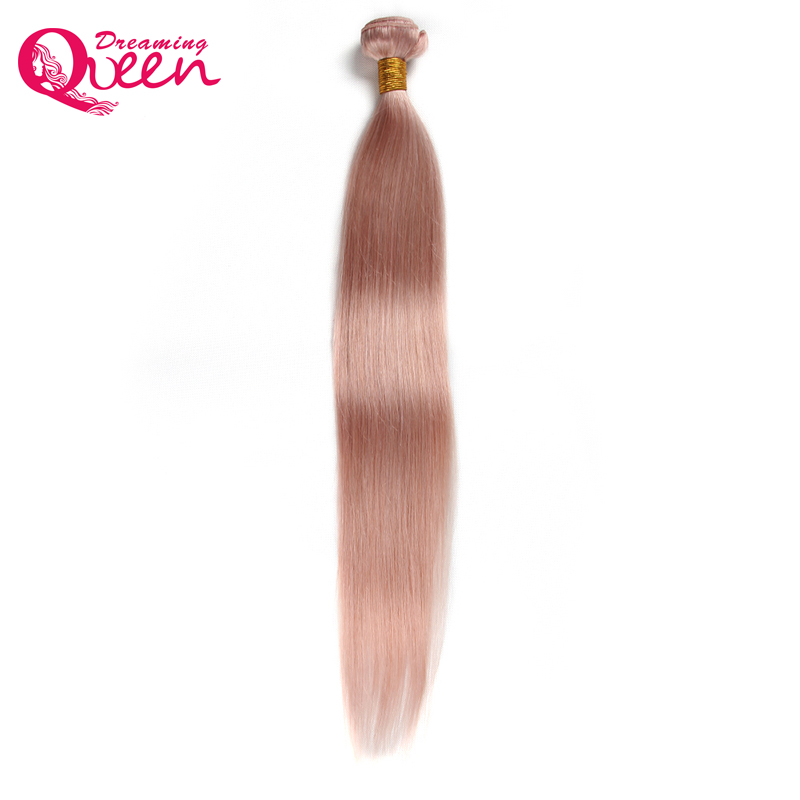 Dreaming Queen Hair Solid Pink Ombre Brasileña Straight Human Weave - Cabello humano (negro)