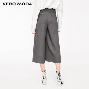 Image 3 - Vero Moda سروايل كابري غير رسمية واسعة الساق مزينة بالخصر للنساء جديد