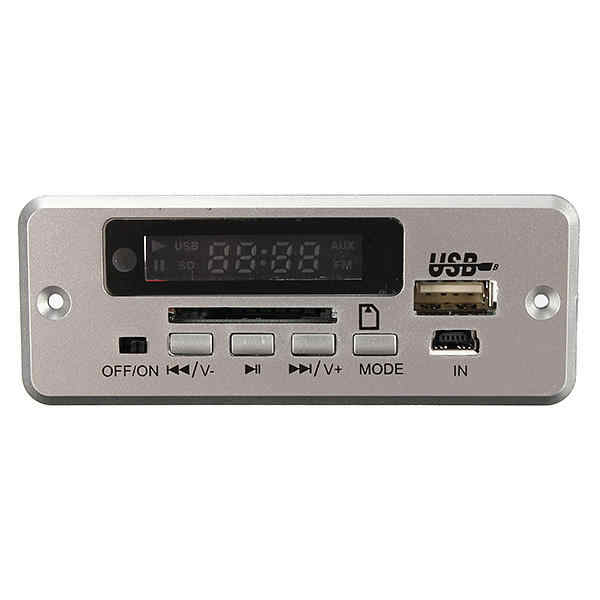 Wireless LED Car kit MP3 Audio Decoder FM Radio USB TF SD MMC Card 5V Remote