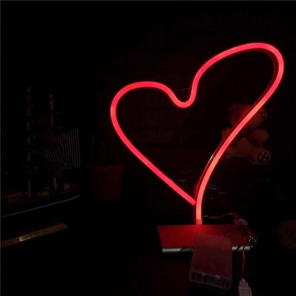 TONGER romántico gran corazón Led neón señal boda habitación decoraciones hogar pared decoración regalos para amantes amor neón iluminación arte decoración