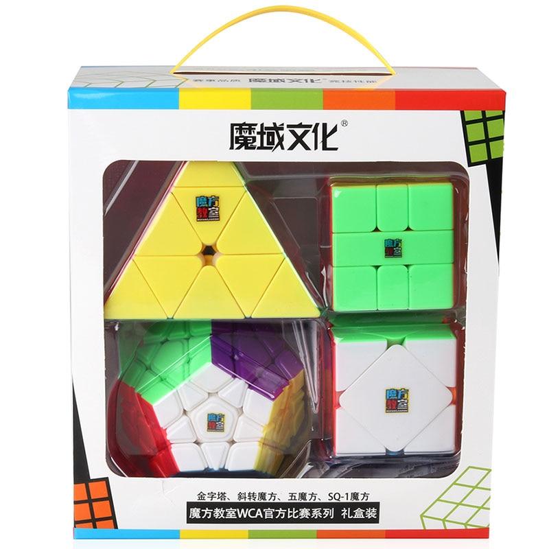 4 pcs/ensemble Moyu WCA Compétition Officielle Magique Cube Coloré Dodécaèdre Triangle Carré-1 Vitesse Puzzle Jouet pour Enfants Cadeau (S8