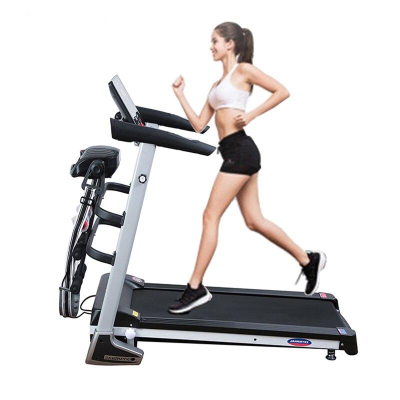 Équipement de fitness d'intérieur multifonctionnel Bluetooth électrique silencieux tapis roulant large ceinture pliante fitness plastique perte de poids