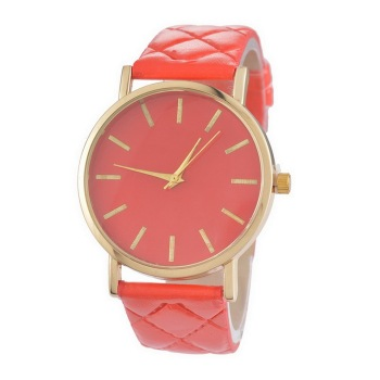 PU Leather Quartz Wrist Watch