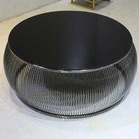 2018 новый дизайн нержавеющая сталь закаленное стекло, чайный столик живущих круглый номер журнальный столик